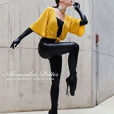 Again a great picture of Alexandra Potter wearing our Ballet Boots, Ballet Heels, Alexandra Potter, Ballet Fashion, Great Pictures, Partner, Mantel, Leather Pants, Poses