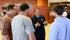 Bob Rathbun speaks with members of the HPU Society of Professional Journalists.