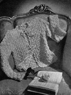 1940's Knitting - Cosy Bed Jacket free knitting pattern