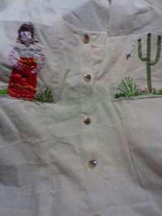 Blusa de manta bordada fig. Mexicana