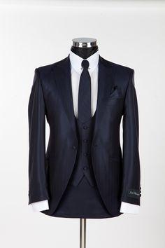 Richmond Silk Blue Slim Wedding Suit by Jack Bunney