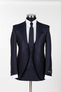 Richmond Silk Blue Slim Wedding Suit by Jack Bunney