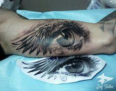Custom tattoo design and tattoo made in DEF tattoo. Persian Tattoo, Eye Tattoos, Tattos, Custom Tattoo, Meaningful Tattoos, Tattoo Designs, Eyes, Tattoo Art, Artist
