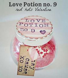 Best Mason Jar Valentine Crafts - Love Potion No. 9 Red Hots Valentine - Cute Mason Jar Valentines Day Gifts and Crafts   Easy DIY Ideas for Valentines Day for Homemade Gift Giving and Room Decor   Creative Home Decor and Craft Projects for Teens, Teenagers, Kids and Adults http://diyprojectsforteens.com/mason-jar-valentine-crafts