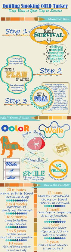 Quit Smoking infographics No Smoking, Help Quit Smoking, Giving Up Smoking, Health Tips, Health And Wellness, Health Fitness, Health Benefits, Quitting Smoking Cold Turkey, Quit Smoking Motivation
