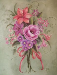 Learn how to paint acrylic stroke roses in this online painting class at the Art Apprentice Online