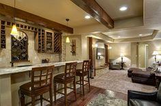 Basement Great Room Bar & TV