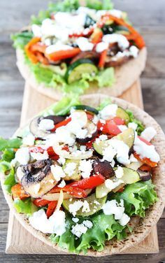Roasted Vegetable Pita Sandwich. So Delicious.