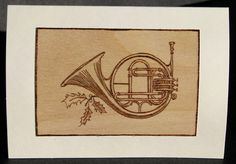 Christmas cards pyrography holiday instruments by bkinspired Musical Cards, Handmade Christmas Decorations, Handmade Items, Handmade Gifts, Pyrography, Christmas Cards, Music Instruments, Invitations, Etsy Shop