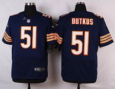 Nike Chicago Bears  51 Dick Butkus Blue Elite Jersey Kyle Long f197478fb