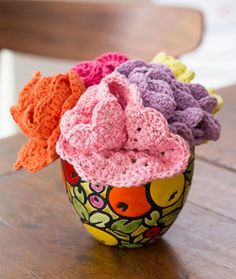 Dishcloths Bouquet Free Crochet Pattern LW4838