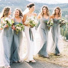 """1,016 Likes, 34 Comments - Jenny Yoo Collection (@jennyyoonyc) on Instagram: """"Real Wedding from @rianannb wedding of her bridesmaids in Mayan Blue Annabelle Dresses…"""""""