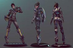 Figurines 3D de Gally, cyborg héroine du manga Gunnm de Yukito Kishiro