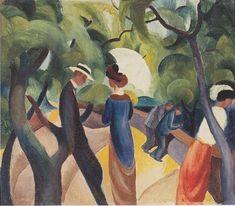 August Macke - Promenade (1913)