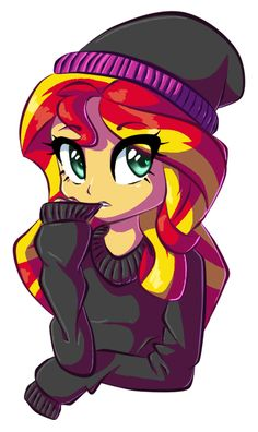 My name is Sunset Shimmer, but my friends call Shim, I don't have any friends....I'm shy and unpopular because of my mom. She is...bad. I go to Canterlot High and I'm 16 years old