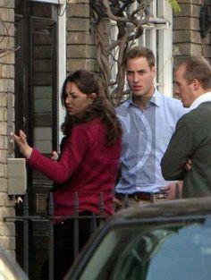 Outside Kate's flat in Chelsea