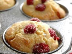 Sugar free baking is often tasteless and bland. These raspberry and lemon muffins are delicious, easy to make and but guilt free! Easy Cooking, Cooking Recipes, Sugar Free Baking, Lemon Muffins, Kefir, Sweet Recipes, Raspberry, Bakery, Cheesecake