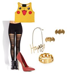 """""""Pikachu!!!"""" by woahshedope ❤ liked on Polyvore featuring Forever 21, BCBGMAXAZRIA, Lanvin, Michael Kors and Noir"""
