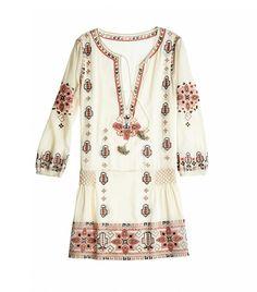 CALYPSO St. Barth Embroidered Drop Waist Dress