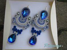 Ridgways / Runnin' 3...soutache Soutache Pendant, Soutache Earrings, Shibori, Fashion Jewelry, Women Jewelry, Polymer Clay Charms, Black Earrings, Fabric Jewelry, Wedding Earrings