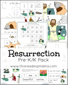 FREE Resurrection PreK-K Pack {NEW!} | This Reading Mama