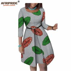 african clothing styles african dresses for women AFRIPRIDE ankara dress three quarter sleeve knee-length women cotton dress with button sashes African Print Dress Designs, African Print Clothing, African Print Fashion, African Women Fashion, Ankara Dress Designs, Ankara Clothing, Ankara Dress Styles, Short African Dresses, Latest African Fashion Dresses