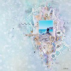 """Бумага-Марака. Чипборды и вырубки для ваших скрап проектов: Доска вдохновения """"Нежность моря"""". Вдохновение от istorkina. LO, sea, shell"""