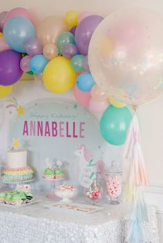 Throw your kiddo the birthday party dreams are made of with this Magical Unicorn Party theme!