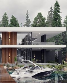 For all lovers of Contemporary Interiors,  Studia 54 creates the most luxurious designs that leaves us surrendered by the way it seduces us in this whole scenario. Home Building Design, Home Room Design, Dream Home Design, Home Design Plans, Modern Exterior House Designs, Dream House Exterior, Modern House Design, Exterior Design, Villa Design