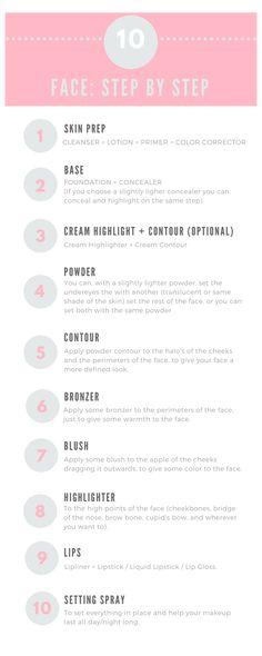 makeup face tutorial step by step Flawless Face Makeup, Face Makeup Tips, Natural Makeup Tips, Makeup For Over 60, Makeup For Teens, Makeup Tutorial Eyeliner, No Eyeliner Makeup, Best Foundation Makeup, Makeup Hacks Videos