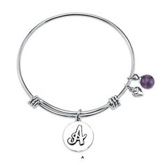 L.A. Rocks Stainless Steel Initial Charm Bracelet at 71% Savings off Retail! I want one for all my initials $14.00 each