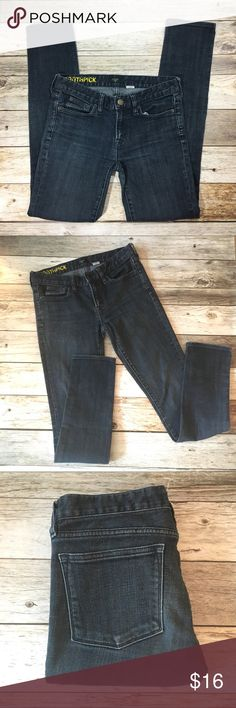 J. Crew Toothpick Skinny Jeans Dark Wash Size 27 J. Crew Toothpick Skinny Jeans Dark Wash Size 27. Minor over stretching of spandex on back of jeans (pictured). J. Crew Factory Jeans Skinny
