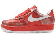 Nike Air Force 1 SPRM Low Dame Sko Rød Hvid