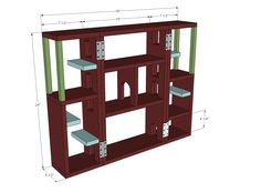 Ana White | Free and Easy DIY Furniture Plans to Save You Money, Folding Cat tree, inspiration for a tardis cat tree