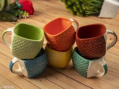 Gifts & Mugs Multi coloured Premium Tea Cups, Set of 6 Material: Ceramic Pack: Multipack Length: 2.5 Inch Breadth: 2.5 Inch Height: 2.5 Inch Size (in ltrs): 175 ml Country of Origin: India Sizes Available: Free Size *Proof of Safe Delivery! Click to know on Safety Standards of Delivery Partners- https://ltl.sh/y_nZrAV3  Catalog Rating: ★4.1 (1076)  Catalog Name: Free Gift Stylo Cups, Mugs & Saucers CatalogID_1246754 C127-SC1268 Code: 244-7673725-999