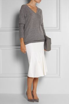 [FW13] I like how, except for the skirt, everything else is in different shades of grey.