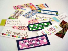 Choose your font, Size and Text! Order any number of Name Labels you like! http://mynamelabels.in/products-school-uniform-tags.html
