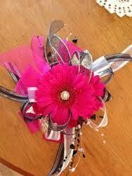 47. Bright Gerbera Daisy corsage