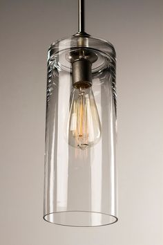 Edison Bulb Pendant Light Fixture Brushed Nickel by DanCordero $120