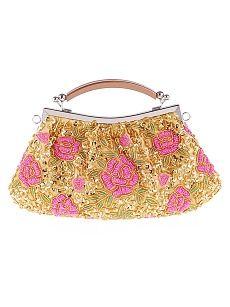 Model: Disco Crocodile Evening or Formal Clutch Floral Clutch Bags, Floral Clutches, Cute Bags, Online Bags, Luxury Handbags, Gold Glitter, Coin Purse, My Style, Womens Fashion