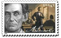 Abraham Lincoln ,The Lawyer. In the USPS issued a set of four stamps commerating the life of Abraham Lincoln. Abraham Lincoln Family, Mary Todd Lincoln, Lincoln Lawyer, Lincoln President, Commemorative Stamps, Old Stamps, Going Postal, Stamp Collecting, Postage Stamps