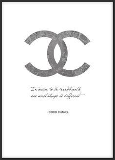 Chanel poster. Snygg tavla med citat