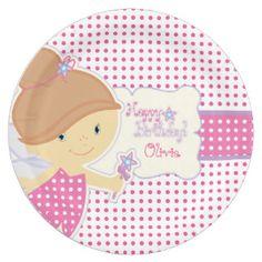 Baby Fairy, Birthday, Paper Plates