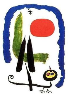 The red spot provides an entry point in this composition by Joan Miro. Any change in the size/proportion of that spot could affect how the viewer visually navigates the work.
