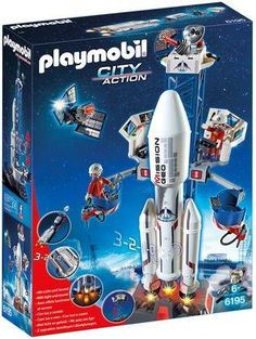 Playmobil Space Rocket with Launch Site Building Kit - Free Shipping