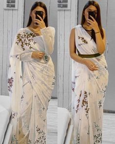Indian Wedding Outfits, Indian Outfits, Dress Wedding, Fancy Sarees Party Wear, Sarees For Girls, Simple Sarees, Simple Lehenga, Indian Gowns Dresses, Unique Dresses