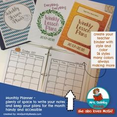Editable Teacher Binder FREE Updates for Life-(Teacher Weekly Planner and Forms)