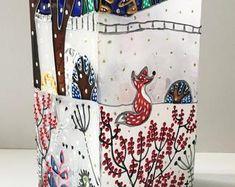 Stained Glass Vase Christmas Shine Home Decor Christmas Night, Christmas Ornaments, Ikea Lamp, Stained Glass Christmas, Amazing Decor, Handmade Items, Handmade Gifts, Summer Flowers, Flower Vases