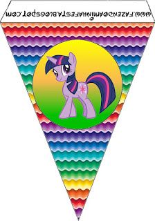 MY EDIT: pony banners . My Little Pony: {free} printables. Right click and save as (site is in spanish) My Little Pony Cumpleaños, Fiesta Little Pony, Little Poney, My Little Pony Birthday Party, 6th Birthday Parties, Birthday Ideas, Fiesta Rainbow Dash, My Little Pony Equestria, Care Bear Party