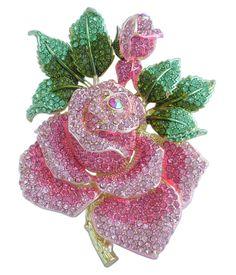 """Купить товарВеликолепный 5.32 """"Золотой Тон Розовый Горный Хрусталь Хрустальная Роза Цветок Брошь Pin EE02994C12 в категории Брошина AliExpress. HelenaJewelry 7.28"""" Bridesmaid Jewelry Bouquet Bridal Wedding Rhinestone Crystal Large Flower Brooch Pin EE04704C1USD 18"""